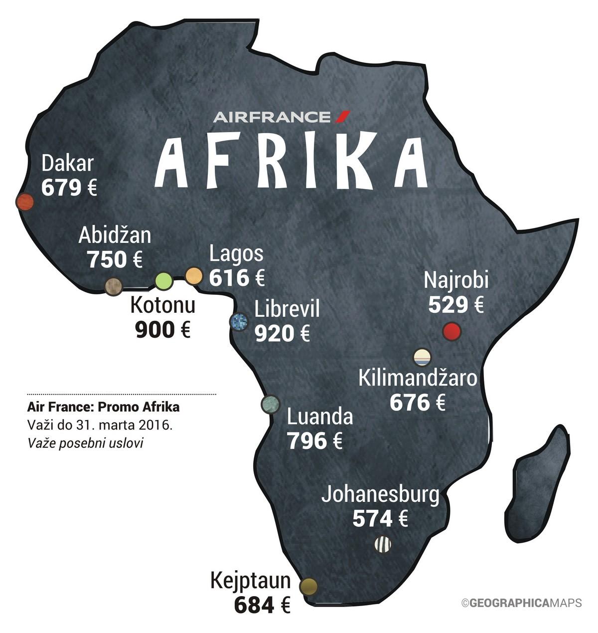 Air France promo Afrika