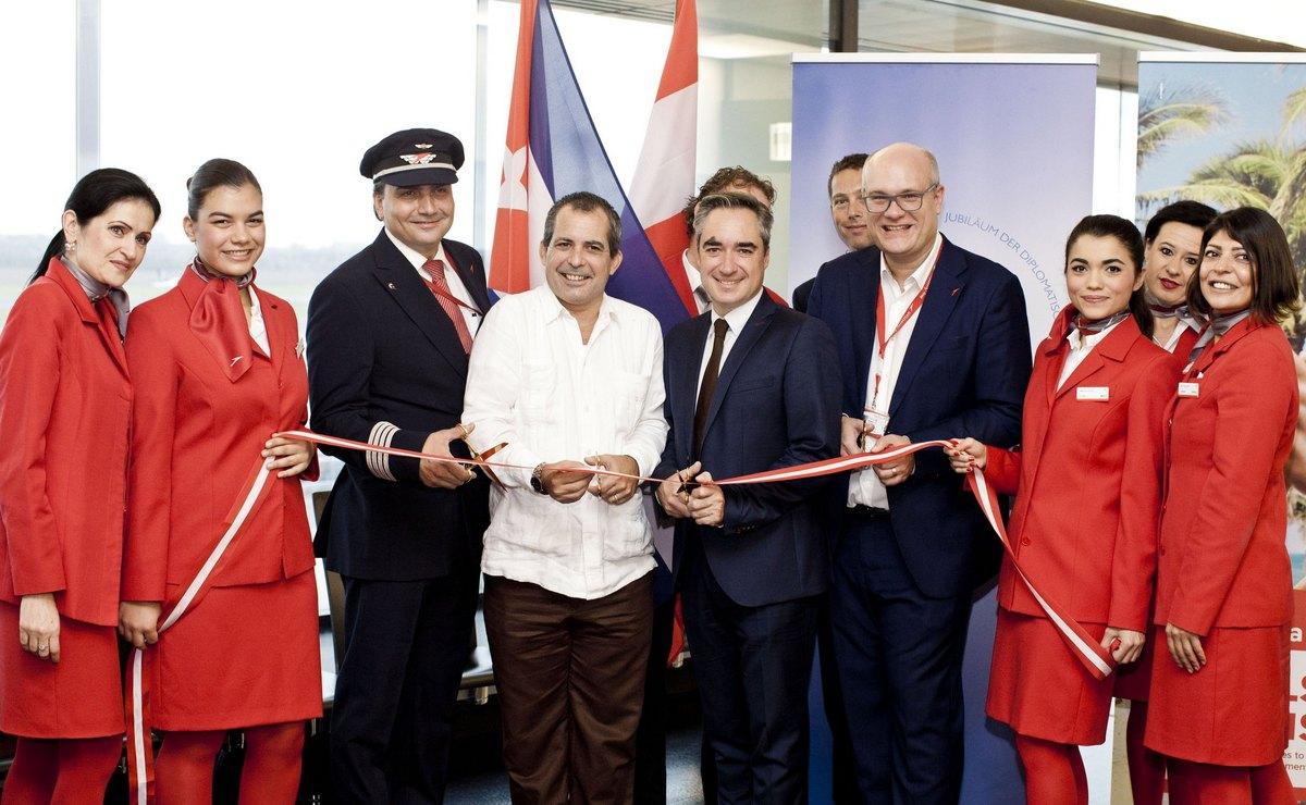Erster Austrian Airlines Flug nach Havanna, Flughafen Wien 25.10.2016 Foto: Austrian Airlines