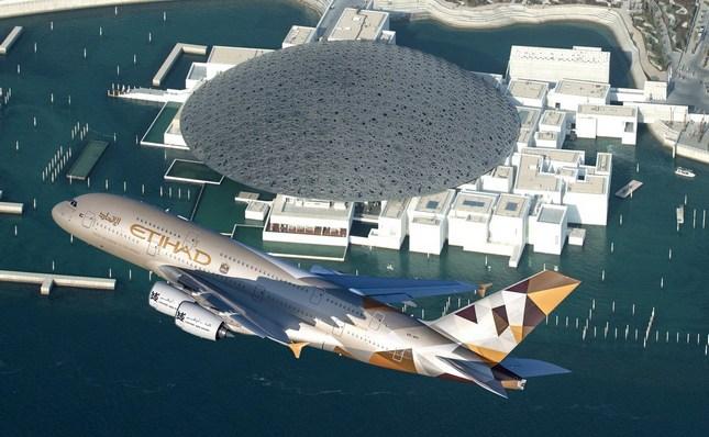 Luvr u Abu Dabiju iz vazduha