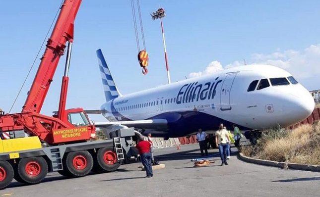 Avion Ellinair-a iskliznuo sa platforme na aerodromu Heraklion