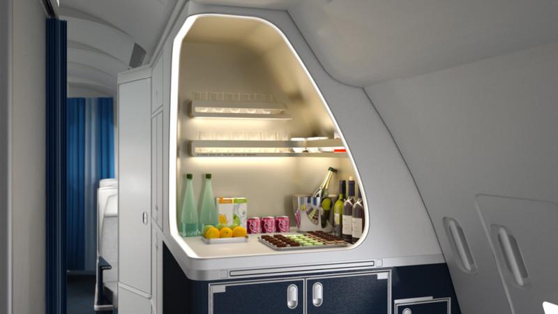 bar u biznis klasi AF A330
