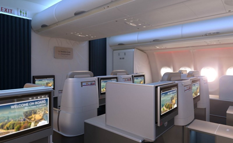 Brussels Airlines new business class cabin