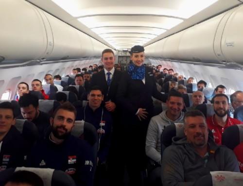 Zlatni odbojkaši stigli u Beograd Air Serbijom