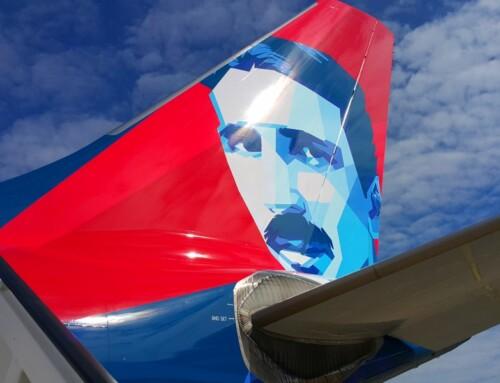 Novi avion Air Serbije sa likom Nikole Tesle svečano ispraćen na prvi let